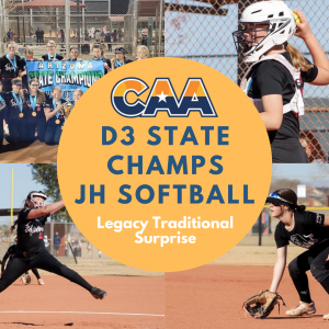 AZ CAA junior High softball state championship